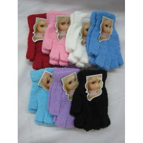 Wholesale Footwear Super Fuzzy Fingerless Gloves