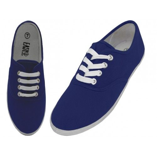 wholesale footwear canvas shoes navy at