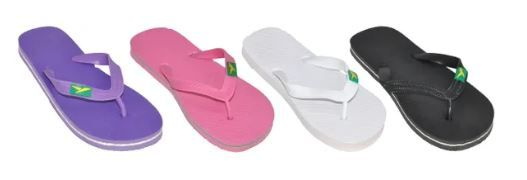 Wholesale Footwear Ladies Solid Color Flip Flop With Stripe On Sole