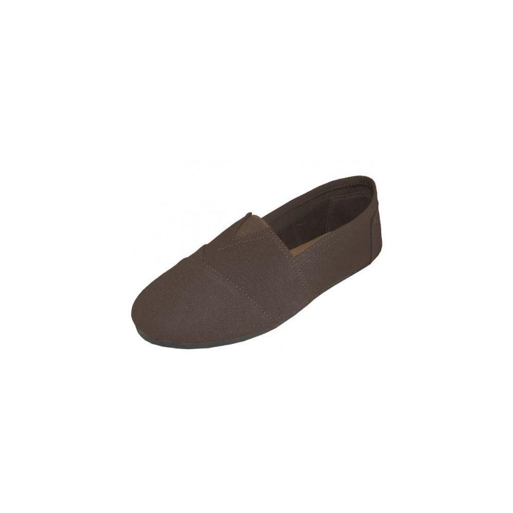 Wholesale Footwear Men's Canvas Shoes Brown