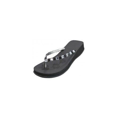Wholesale Footwear Women's Rhinestone Flip Flops