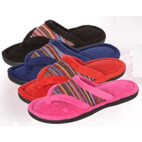 Wholesale Footwear Ladies Plush Tribule Print Flip Flop