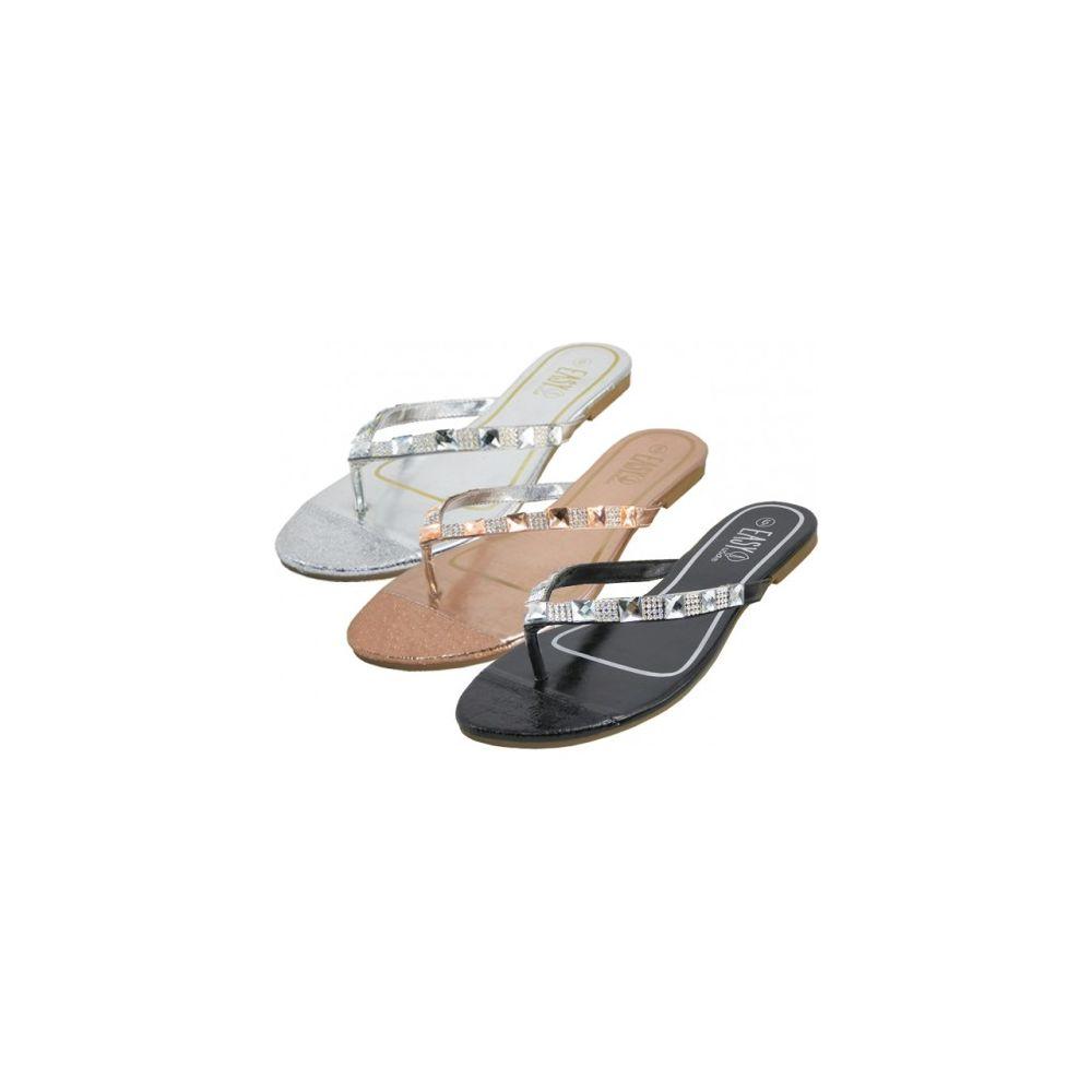 Wholesale Footwear Women's Rhinestones Flip Flops
