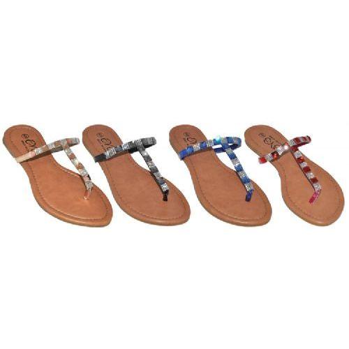 Wholesale Footwear Ladies Rhionstone Fashion Flip Flop