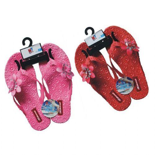 Wholesale Footwear Ladies Flip Flops With Flowers