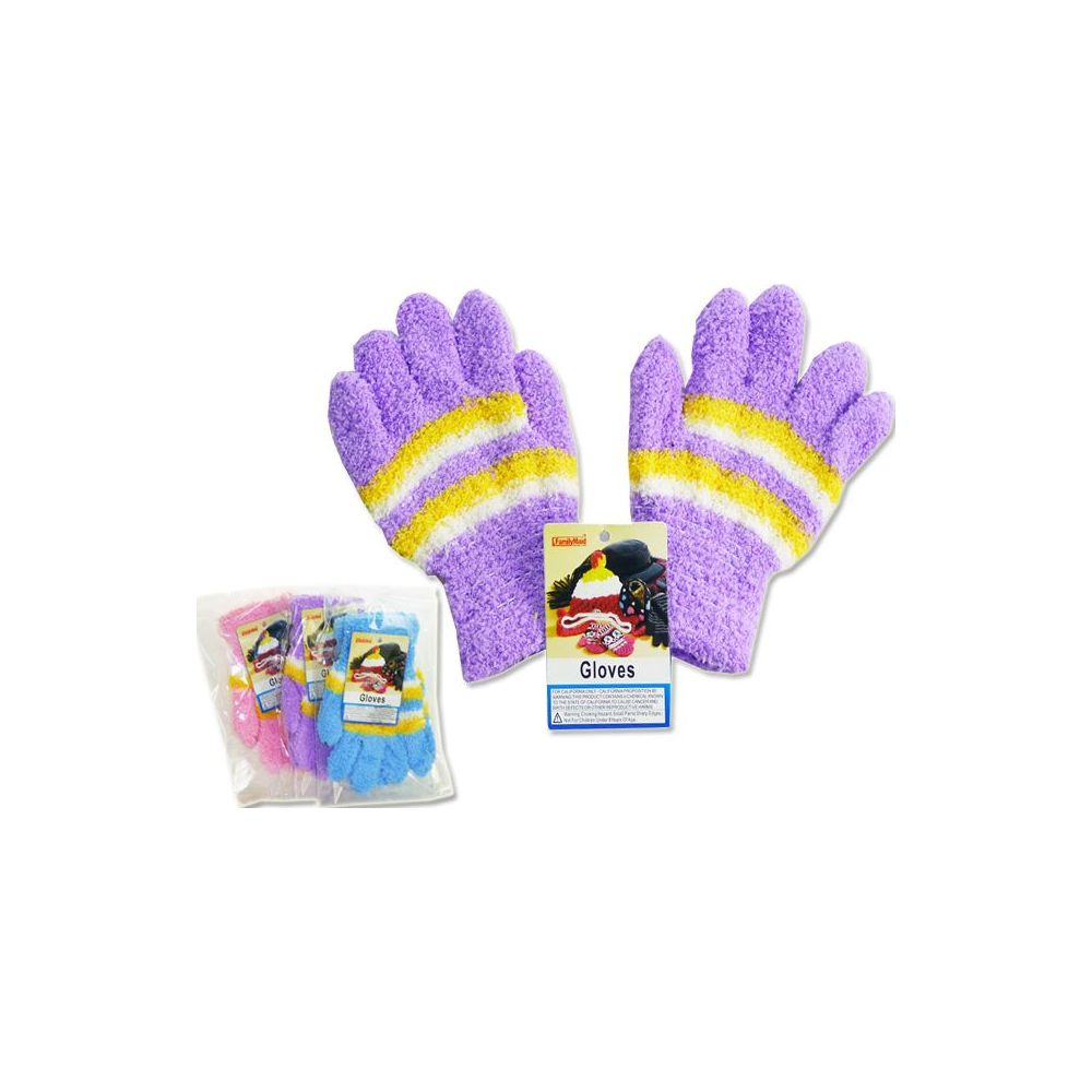 Wholesale Footwear Kids' Fuzzy Gloves, 18g
