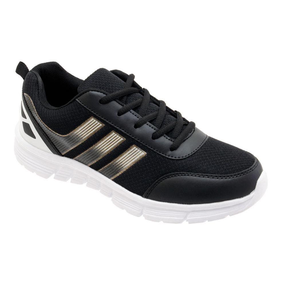 Wholesale Footwear Men's Lightweight Casual Sneakers In Black