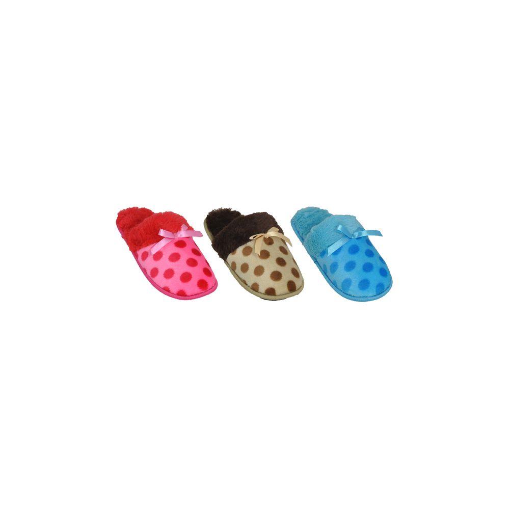 Wholesale Footwear Ladies Polka Dot House Slipper