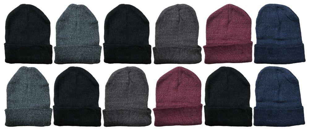 Wholesale Footwear Yacht & Smith Unisex Winter Warm Acrylic Knit Hat Beanie