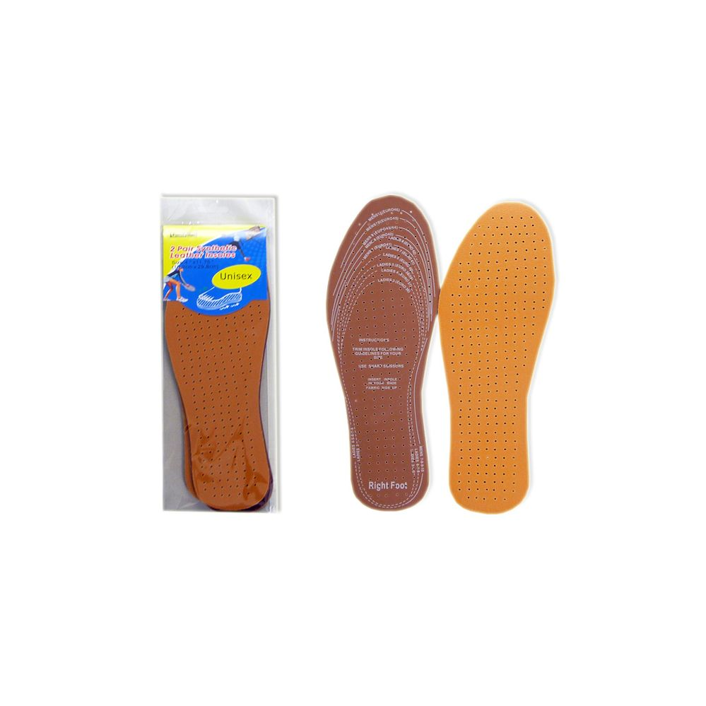 Wholesale Footwear 2 Pairs Leather Insoles