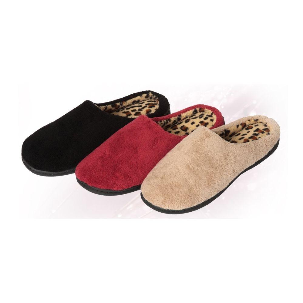 Wholesale Footwear Women's Animal Lined Plush Slipper
