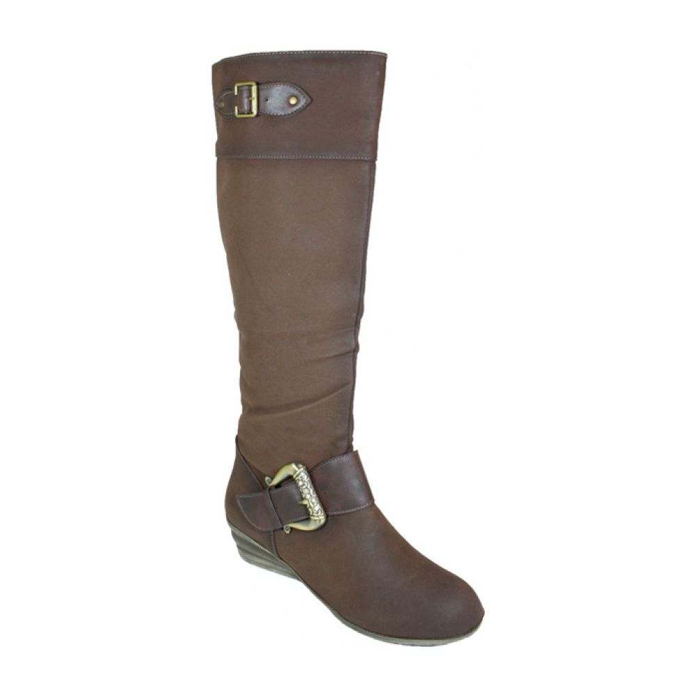 Wholesale Footwear Ladies Fashion Long Winter Boot Assorted By 2 Colors Coffee And Camel