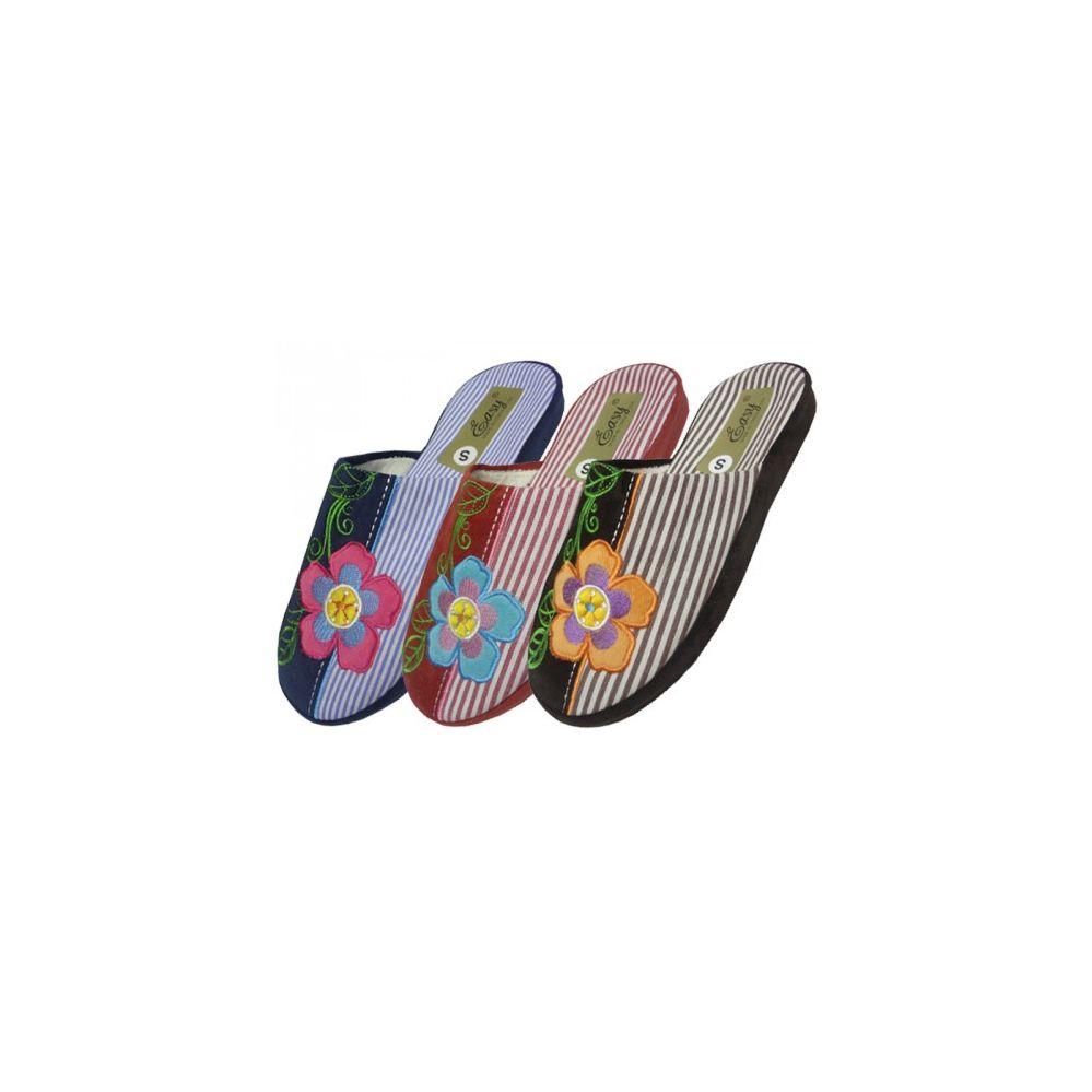 Wholesale Footwear Women's Flower Embroidery House Slippers