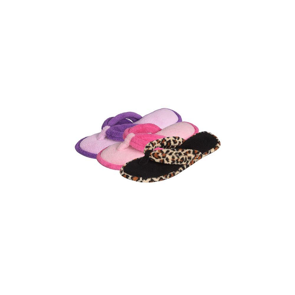 Wholesale Footwear Women's Plush Thong Slipper