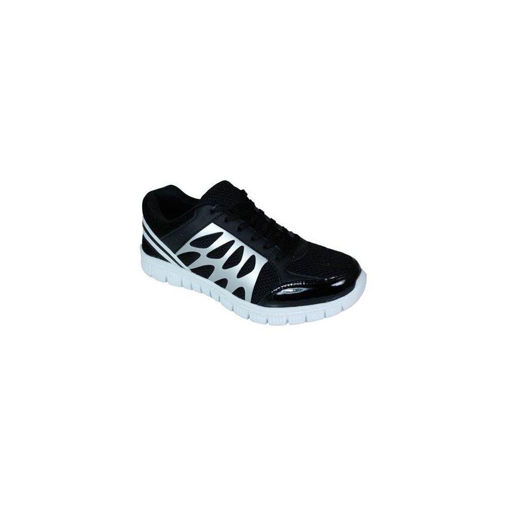 Wholesale Footwear Mens Running Sneakers In Black And Grey