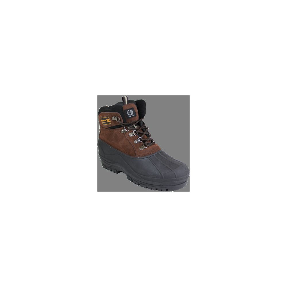 "Wholesale Footwear Men""s Rubber Duck Boots Brown Only"