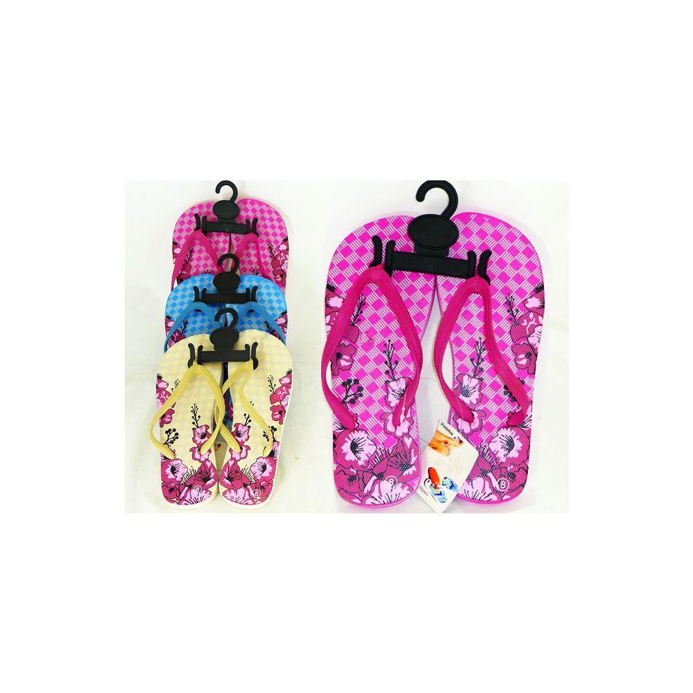 Wholesale Footwear Womens Assorted Print Flip Flop