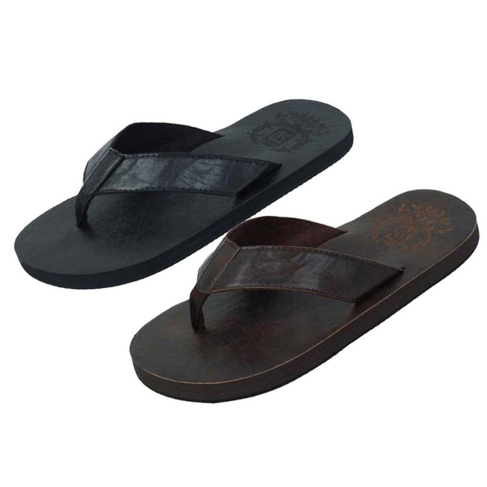 Wholesale Footwear Mens Sandal Black And Brown Assorted