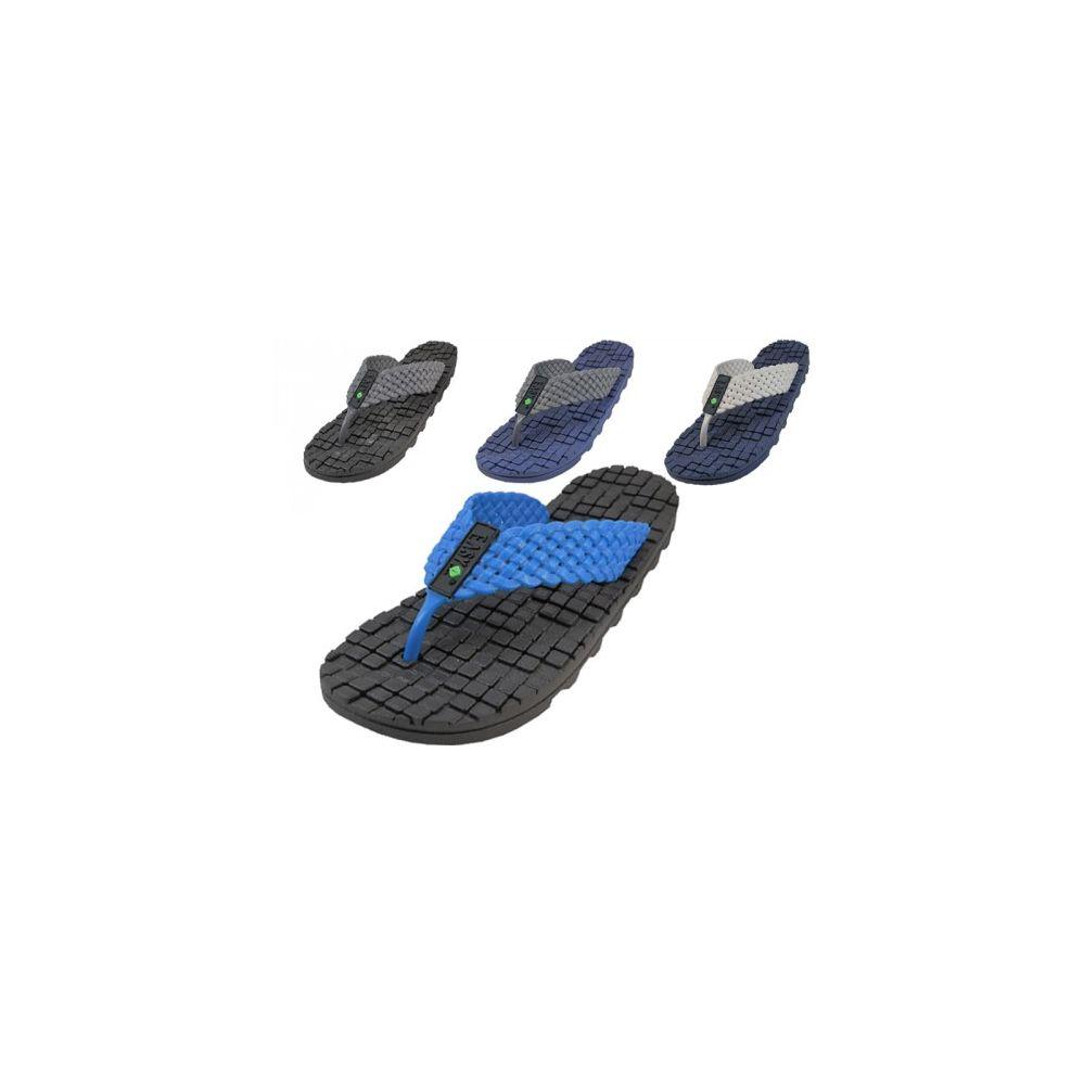 Wholesale Footwear Men's Soft Rubber Like Gel Flip Flops