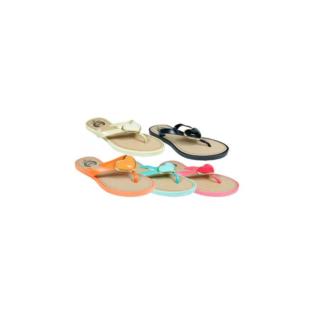 Wholesale Footwear Ladies Fashion Flip Flop With Heart