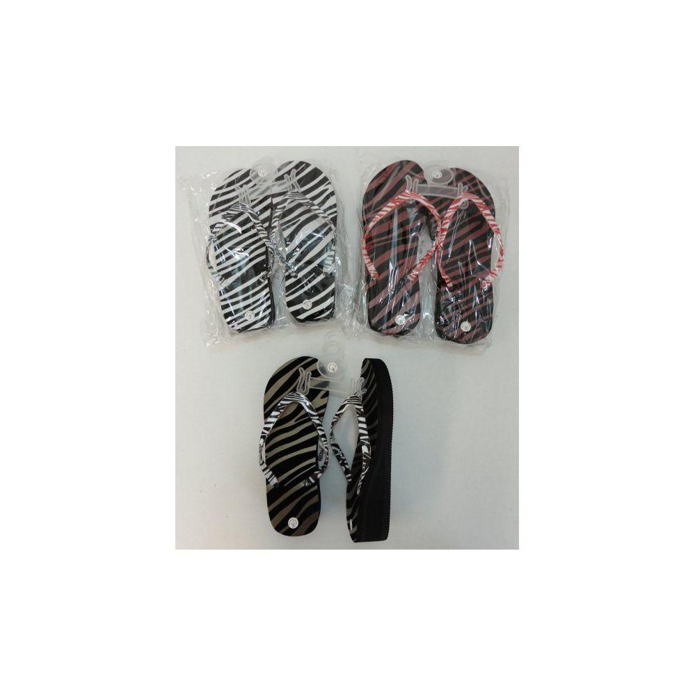 Wholesale Footwear Ladies Platform FliP-Flops [zebra]