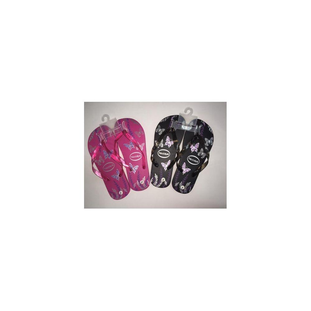 Wholesale Footwear Ladies Butterfly Printed Flip Flops (Assorted colors)