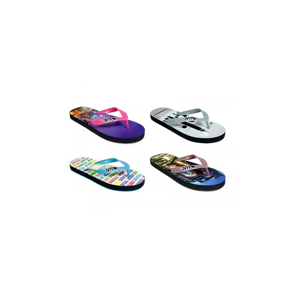 Wholesale Footwear Woman's Assorted Printed Flip Flop