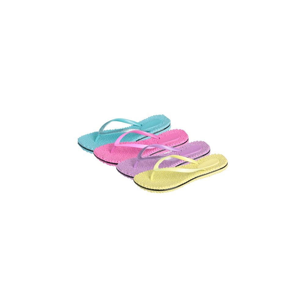 Wholesale Footwear Women's Pastel Colored Flip Flop Sizes & Colors Assorted Per Case.