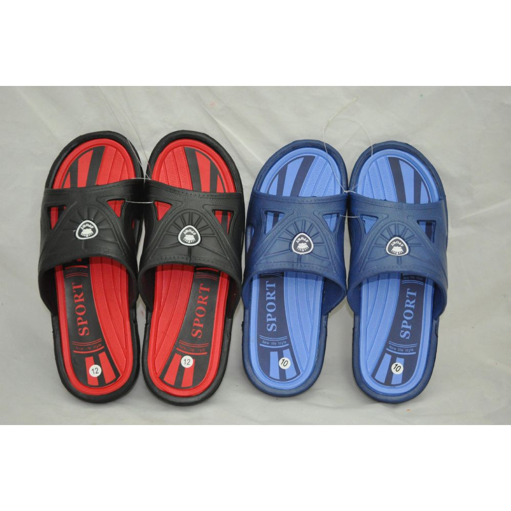 Wholesale Footwear Men's Two Tone Color Shower Beach Slipper