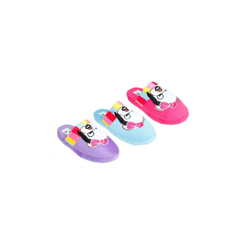 Wholesale Footwear Woman's House Slipper With Logo Print