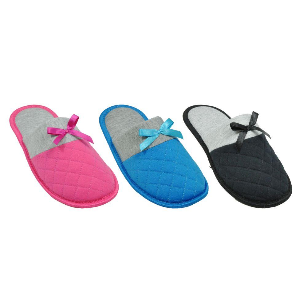 Wholesale Footwear Woman's House Slipper 2 Tone Color