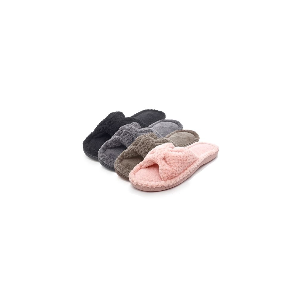 Wholesale Footwear Women's Plush Bow Slipper