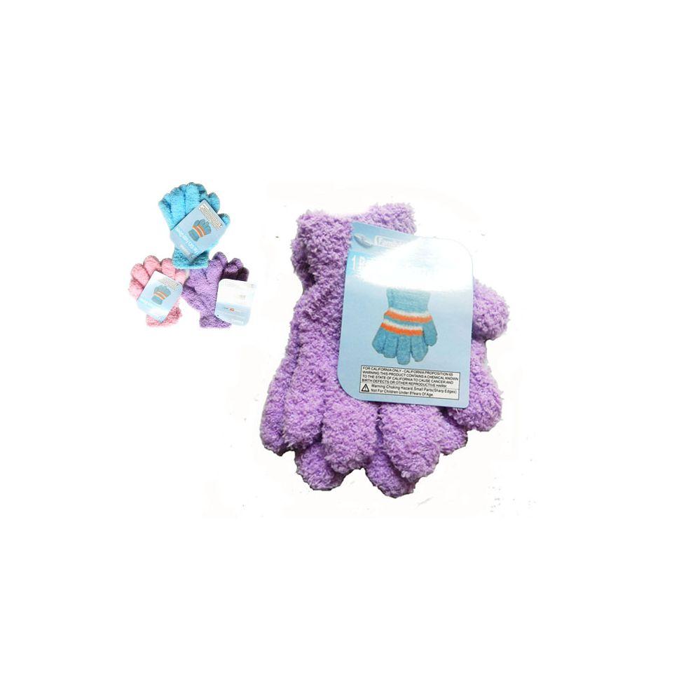 Wholesale Footwear Gloves Fuzzy 1pr Kid 18g Strip Children