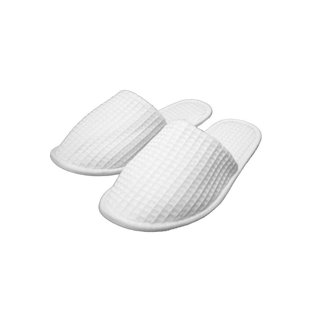Wholesale Footwear Waffle House/spa Slippers White Close Toe Wholesale