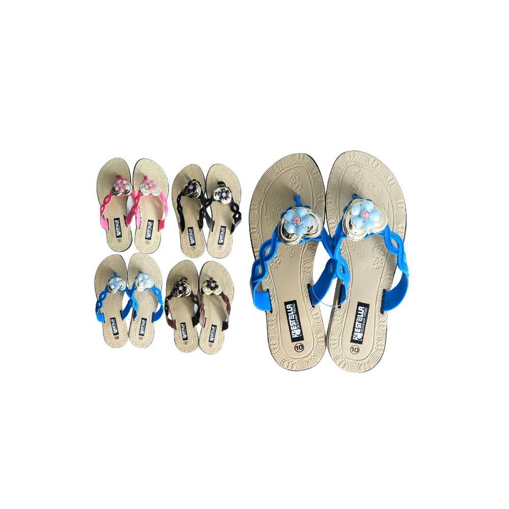Wholesale Footwear Women's Flower Embellishment Slipper