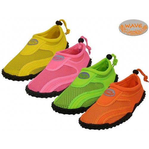 Wholesale Footwear Women's Neon Colors Wave Aqua Socks