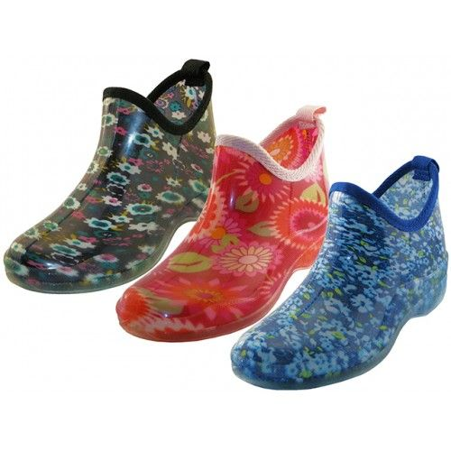 Wholesale Footwear Women's Water Proof Ankle Height Garden Shoes, Rain Boots