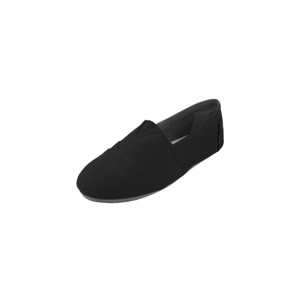 Wholesale Footwear Men's Canvas Slip On Black
