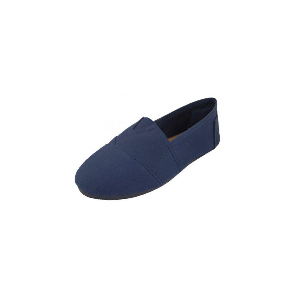 Wholesale Footwear Men's Canvas Slip On In Blue