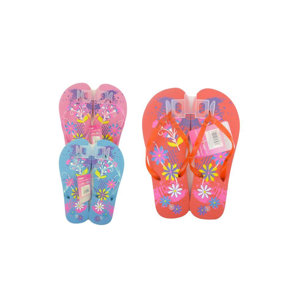 Wholesale Footwear Women's Printed Floral Flip Flop Sizes 5-10