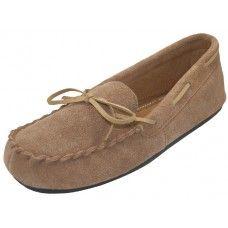 Wholesale Footwear Wholesale Women's Beige Leather Moccasins