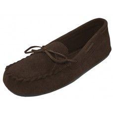 Wholesale Footwear Wholesale Women's Brown Leather Moccasins