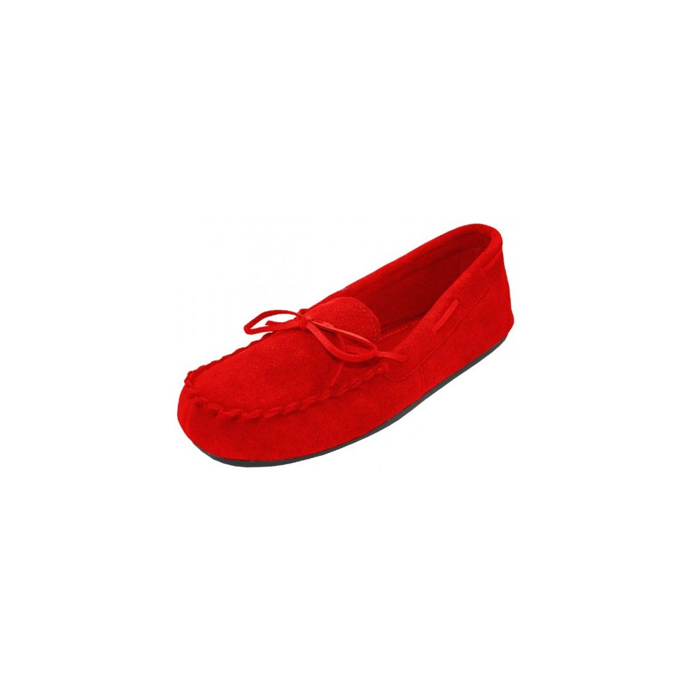 Wholesale Footwear Wholesale Women's Red Leather Moccasins