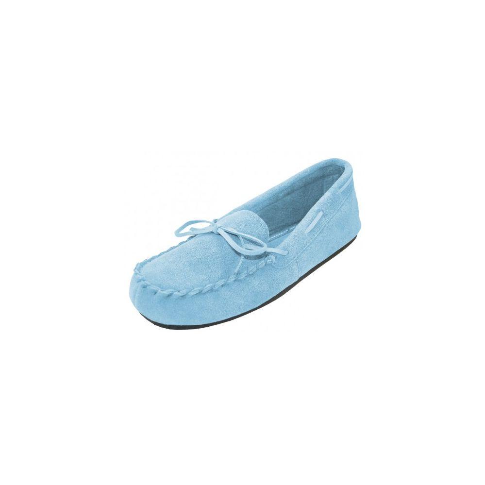 Wholesale Footwear Wholesale Women's Light Blue Leather Moccasins