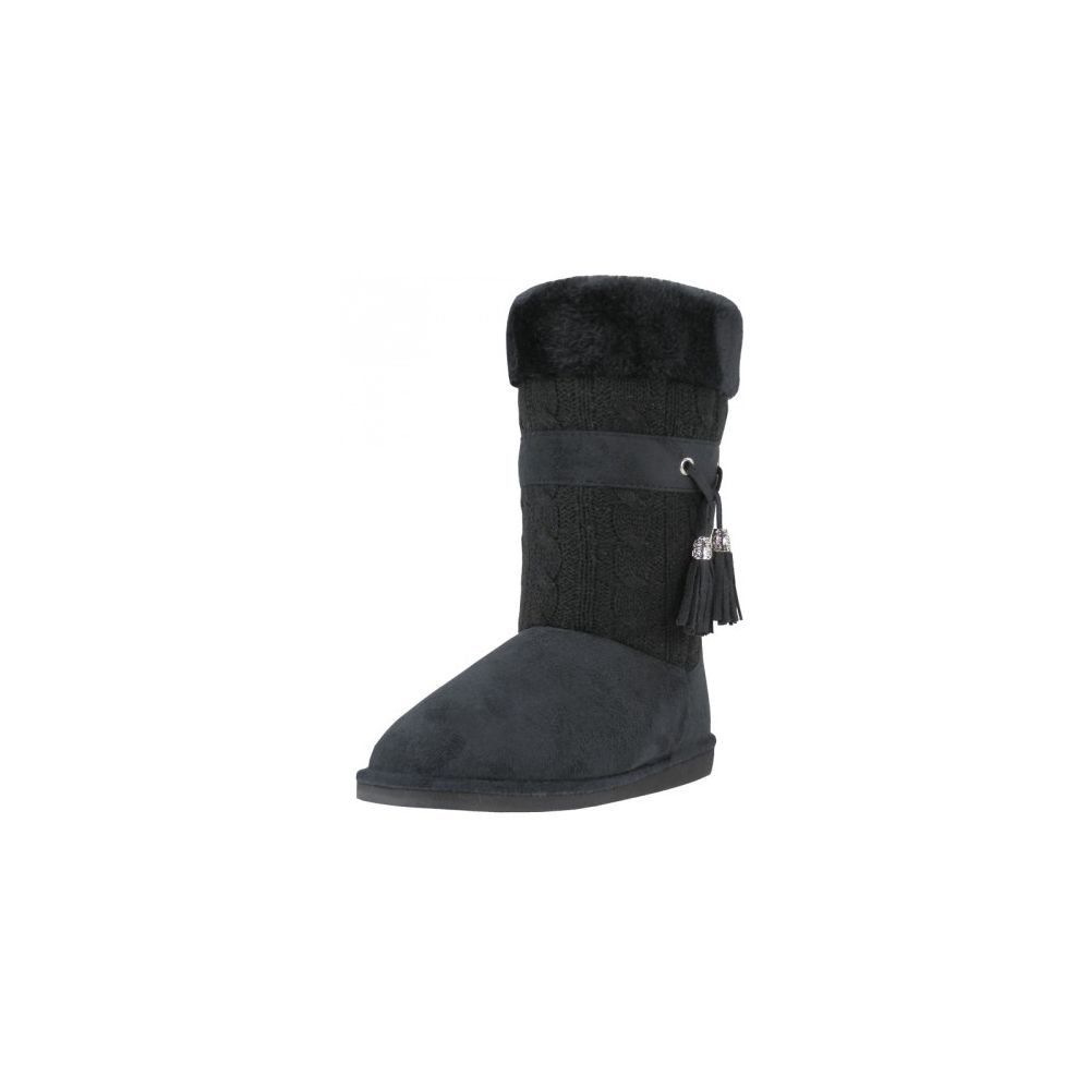 Wholesale Footwear Wholesale 11 Inches Shaft Women's Micro Fiber Knitts Faux Fur Lining Boots