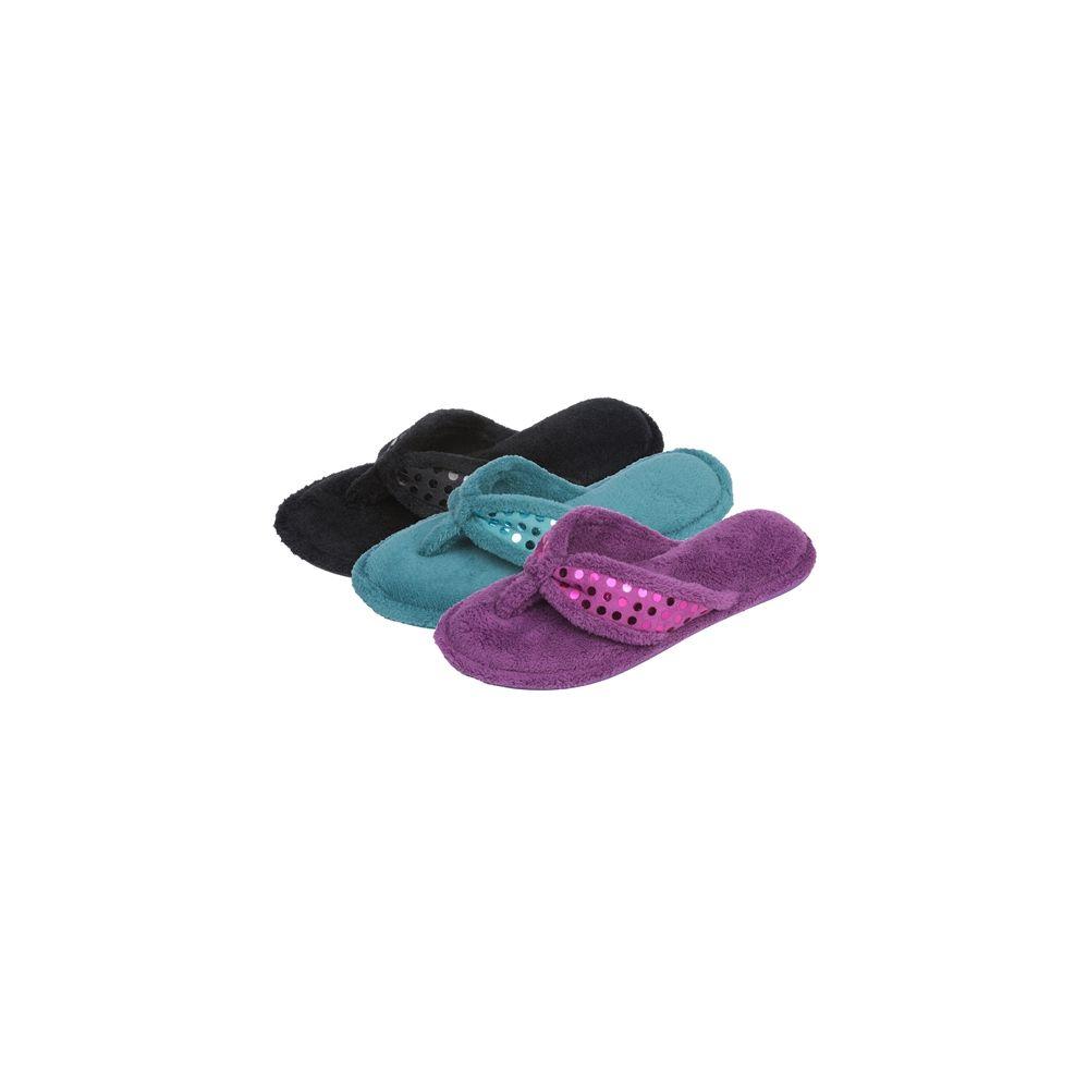 Wholesale Footwear Ladies Plush Flip Flop