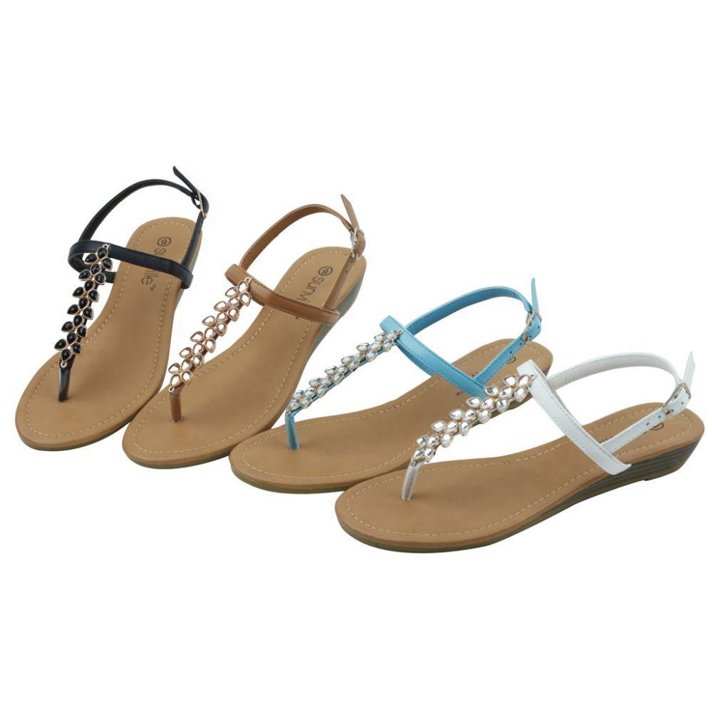Wholesale Footwear Ladies' Fashion Sandals Assorted Colors Size 5-10