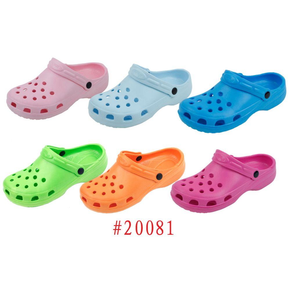 Wholesale Footwear Ladies' Garden Shoes Fuchsia, Aqua Blue, Green, Orange, Pink, Lt. Blue