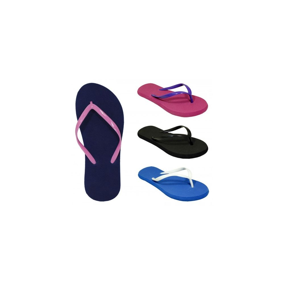 c16b8d415699b Wholesale Footwear Women s Two Tone Flip Flop Assorted Colors - at ...