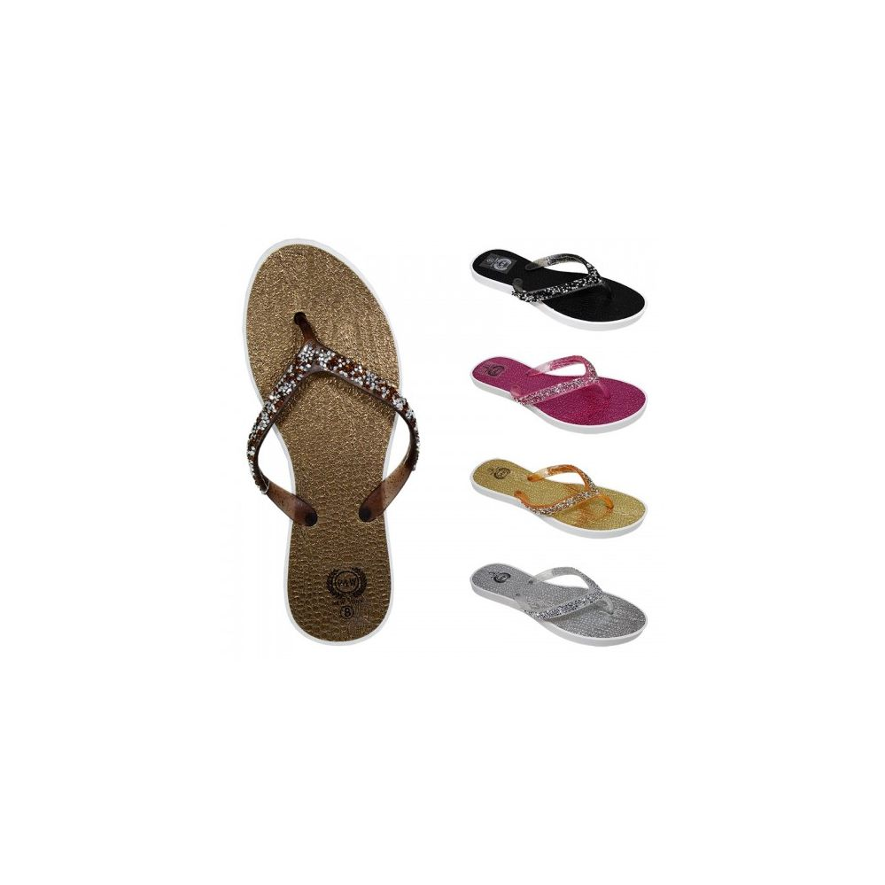 Wholesale Footwear Women's Beaded Flip Flops(6-11)